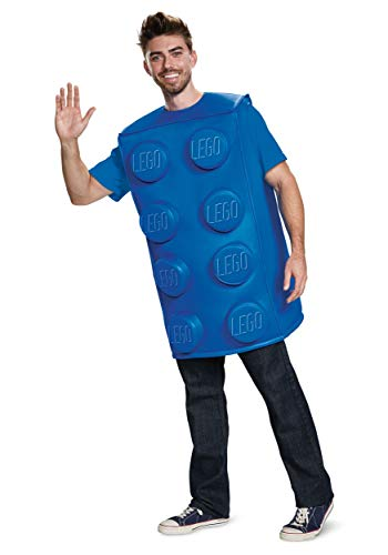 Disguise Unisex Blue Brick Adult Costume, M/L ()
