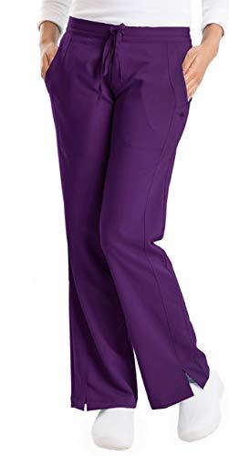 healing hands Purple Label Women's Taylor 9095 2 Pocket Drawstring Scrub Pant Scrubs- Eggplant- MT (Staff Labels)