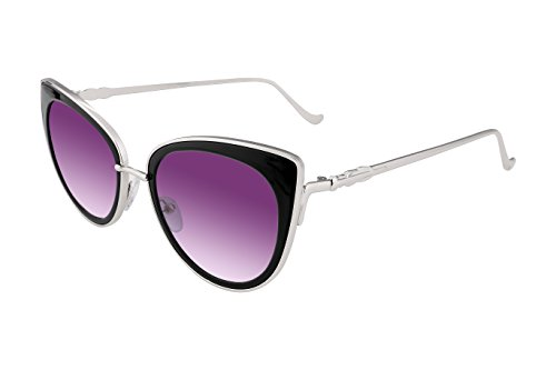 FEISEDY Cat Eye Metal Frame Women Sunglasses UV400 HD Lenses - Purple Frame Sunglasses