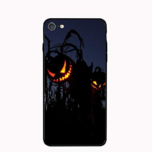 Phone 7 Case,Phone 8 Case,Scary Halloween Pumpkin Pattern Slim Shockproof Flexible Glossy Soft Case Rubber Skin Cover for Normal 4.7 inch]()