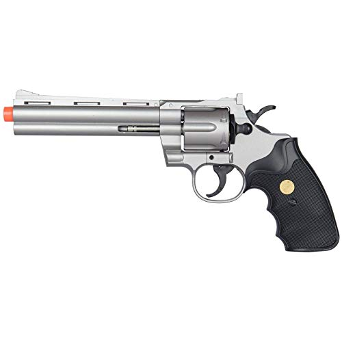 AirSoft 357 Magnum Revolver Full Size Spring Hand Gun Pistol w/Shells 6mm BB