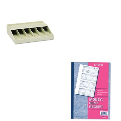 KITMMF210470089TOP46808 - Value Kit - Tops Money/Rent Receipt Books (TOP46808) and MMF Bill Strap Rack (MMF210470089)