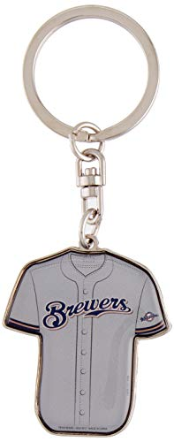FOCO MLB Milwaukee Brewers Unisex Double Sided Jersey KEYCHAINDOUBLE Sided Jersey Keychain, Team Color, One Size