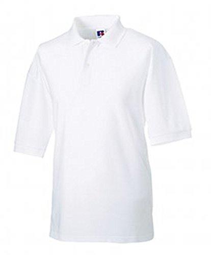 Russell Men's Pique Poly/Cotton Short Sleeve Polo Shirt White 3XL