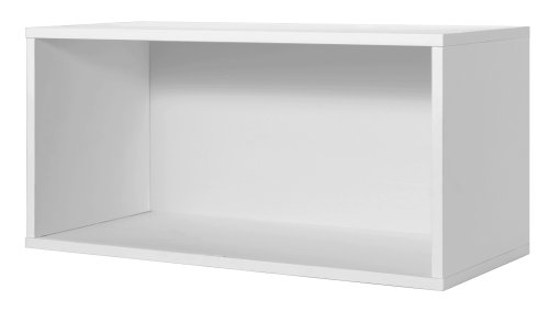 Low Shelving - Foremost 327701 Modular Large Open Cube Storage System, White
