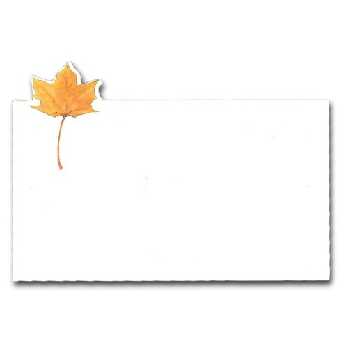 Wedding Leaves Fall Invitation (Fall Leaf Place Card, Pack of 10)