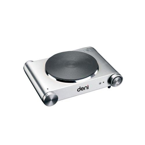 Burner Tabletop Plate - Deni 16310 Stainless-Steel 1500-Watt Tabletop Single Burner