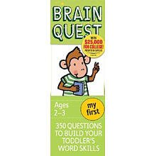 Price comparison product image MY FIRST BRAIN QUEST AGES 2-3 : 350 QUESTIONS TO BUILD