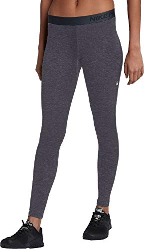 NIKE Women's Pro Warm Training Tights (Charcoal Heathr, X-Large)
