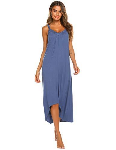 Ekouaer Nightgowns for Women Slip Sleep Shirt Dress Soft Long Sleepwear]()