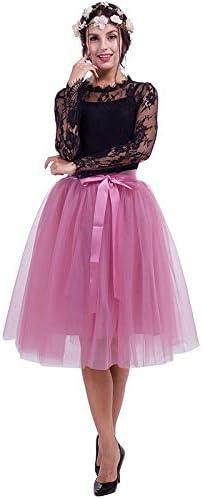 NVDKHXG 6Layers 65cm Moda Falda de Tul Faldas de tutú Plisadas ...