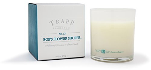 - Trapp Ambiance Collection No. 13 Bob's Flower Shoppe Poured Scented Candle, 8.75-Ounces