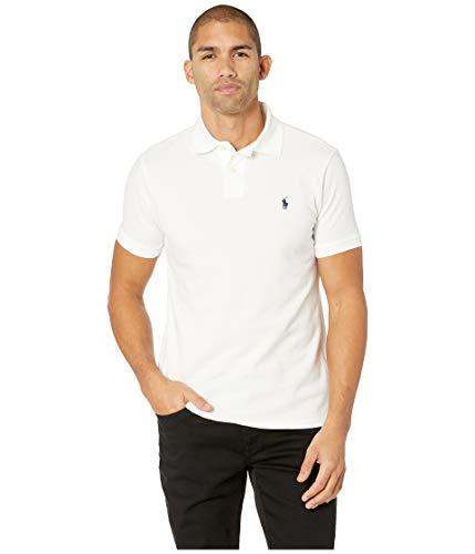 Cotton Mesh Custom Slim Fit Polo (White, L), White, Size Large (Ralph Lauren Polo Shirts For Men)