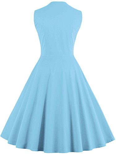 Vintage Rockabilly Babyonline 1950s Cocktail Evening Women Blue Dresses Gown Retro Fs1096 ScCSq5