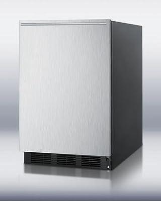Summit FF6BBISSHHADA Refrigerator, Stainless Steel