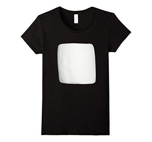 S'mores Costume Family (Womens Marshmallow Smores Halloween Costume Shirt Large Black)