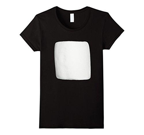 Womens Marshmallow Smores Halloween Costume Shirt Large B...