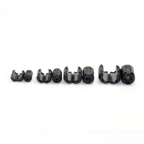 Noise Filters AUCH 20Pcs Clip-on Ferrite Ring Core Black RFI EMI Suppressor For
