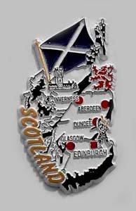 Flagline Scotland - Magnet (Scotland Fridge Magnet)