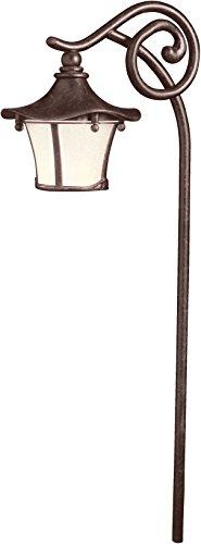 (Kichler 15420AGZ, Cotswold Low Voltage Post Landscape Path Lighting Xenon, Aged Bronze )