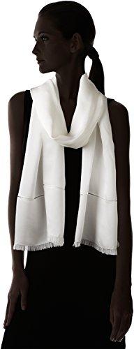 Echo Design Women's Metallic Edge Silk Evening Wrap, White, One Size