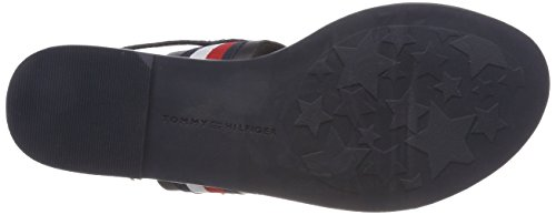 Bride Hilfiger Arrière Bleu Femme Tommy Flat Corporate midnight Ribbon 403 Sandal 6AOfWcqPTp