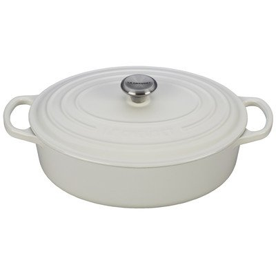 Le Creuset Enameled Cast Iron Signature Oval Wide Oven, 3.5 quart, White
