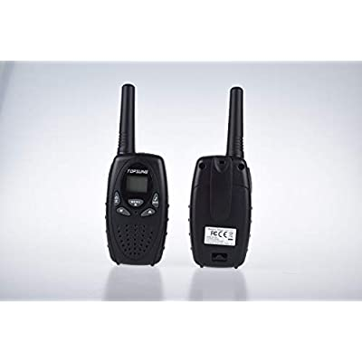 Topsung Walkie Talkies for Kids/Adults, FRS Two Way Radios Long Range, Walky Talky for Camping (Black): Sports & Outdoors