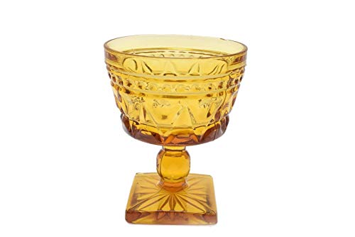 Indiana Glass Colony Park Lane Sherbet Champagne Glass Amber Stemmed Glass (Glass Sherbet Champagne)