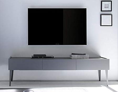 Kasalinea STANISLAS 2 - Mueble para TV, Color Gris o Blanco, Gris, L 184 x P 51 X H 20 cm: Amazon.es: Hogar