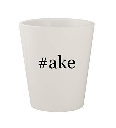 #ake - Ceramic White Hashtag 1.5oz Shot Glass