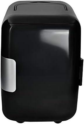 MALATEC Mini Kühlschrank & Warmhaltebox 4 Liter Kühlbox 12V + 220V Weiß/Schwarz 5794, Farbe:Schwarz