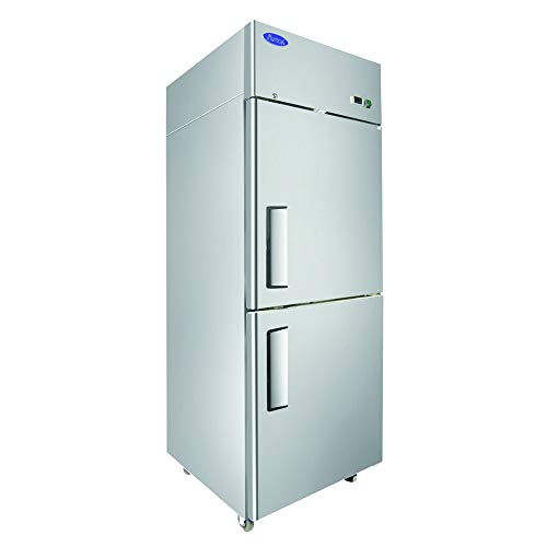 (Atosa MBF8010GR Single Section Reach-in Refrigerator with Right Hinged Half Doors)