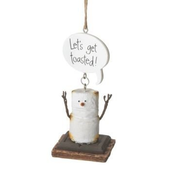 Toasted S'Mores Let's Get Toasted! Christmas/ Everyday Ornament by Midwest