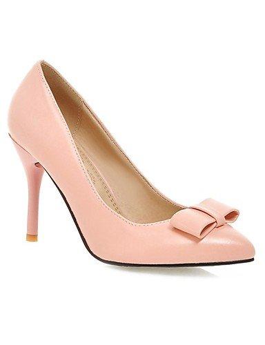 amp; de tal¨®n rosa oficina de mujeres pink PU de negro color la grueso us10 eu42 carrera 5 en punta uk8 uk6 cn39 cn43 5 talones las us8 talones eu39 pink pink ZQ uk de us10 rojo ocasional zapatos 5 eu42 51865xZ