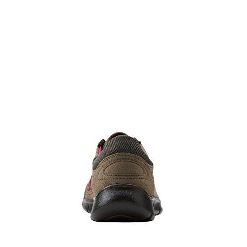 Clarks Dames Heg Tipi Veterschoenen Fashion Sneaker Grijs Suède