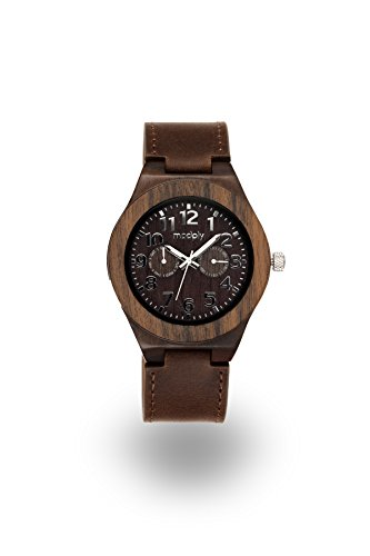 handmade-mens-wooden-watch-blackwood-and-a-dark-brown-authentic-leather-band-silver-face