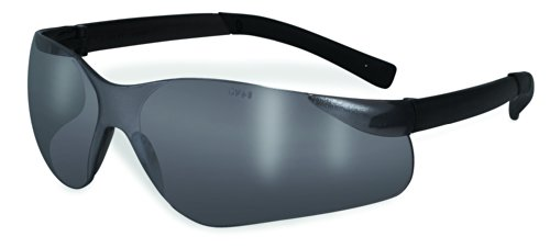 (SSP Eyewear Safety Glasses with Mirrored Lenses/Rubber Temples, TURBO M)