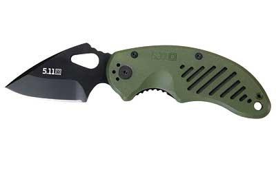 New 5.11 Tactical DRT FOLDER PLAIN EDGE Folding Knife Black Moss Green FRN High Quality Popular, Outdoor Stuffs
