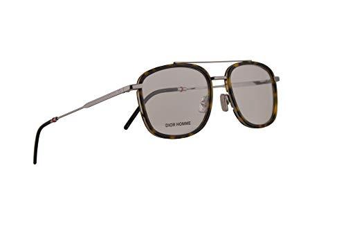 Christian Dior Homme Dior0229 Eyeglasses 53-19-150 Havana Ruthenium w/Demo Clear Lens 3MA 0229