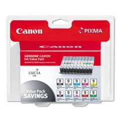 Canon PGI910CLRS Lucia Ink Cartridges, 10 Color Pack in Retail Packaging