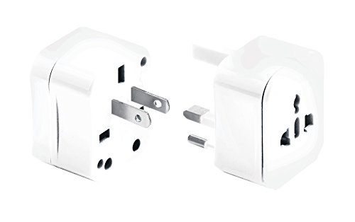 Lewis N Clark Adapter Plug Kit W/ 2.1a Dual USB Charger, White