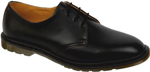 Dr. Martens Men's Steed Black Oxfords 7 M UK, 8 M