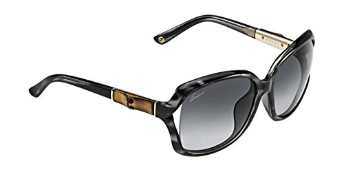 Gucci - GG 3685/F/S ASIAN FIT, Geometric, injection/propionate, women, SPOTTED BLACK GOLD/GREY SHADED(6UD/HD), - 125 61 16 Sunglasses