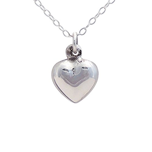 Beloved Child Goods Sterling Silver Heart on Sterling Silver Chain for Babies (12