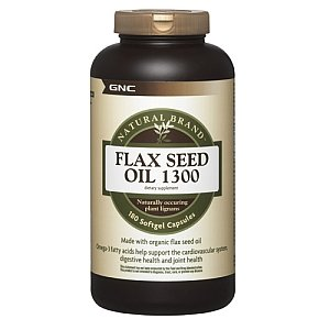 GNC Natural Marque Flax Seed Oil 1300, Softgel Capsules, 180 ch