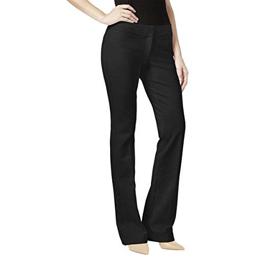Alfani Womens Tummy Control Tuxedo Stripe Trouser Pants Black (Womens Tuxedo Trousers)