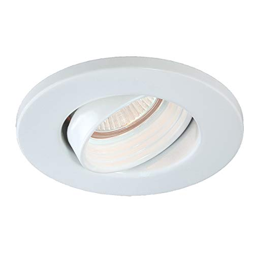 Eurofase TR-M07-02 Die Cast Gimbal 3-1/4-Inch Recessed Trim, White