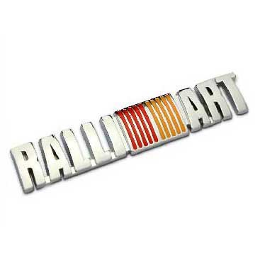 B232 Car Styling Accessories Chromed Emblem Badge Decal Sticker Back Logo RALLIART For MITSUBISHI LANCER