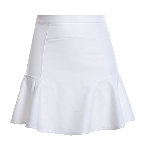 A Jupe lgante Haute Femmes Line Vintage Jupe Jupe Minetom Taille Blanc Style Patineuse Cocktail qaxwXfq